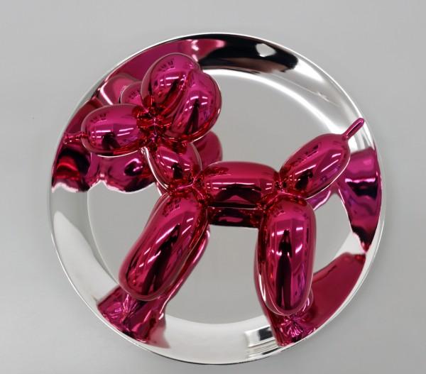 Jeff Koons - Balloon Dog (Magenta) inkl. Plexiglashaube