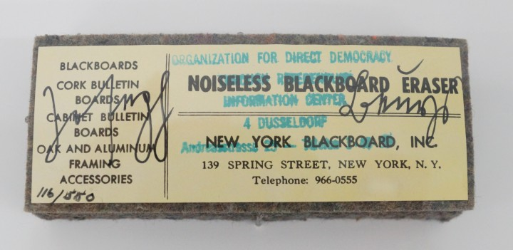 Joseph Beuys - Noiseless Blackboard Eraser
