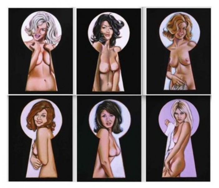 Mel Ramos - Vintage Peek-a-Boo Portfolio