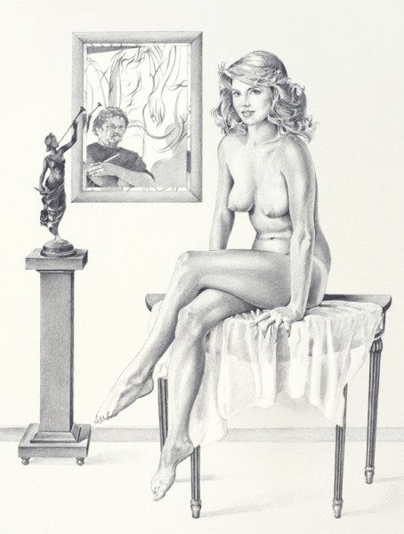 Mel Ramos - Portrait d'une jeunne fille americaine