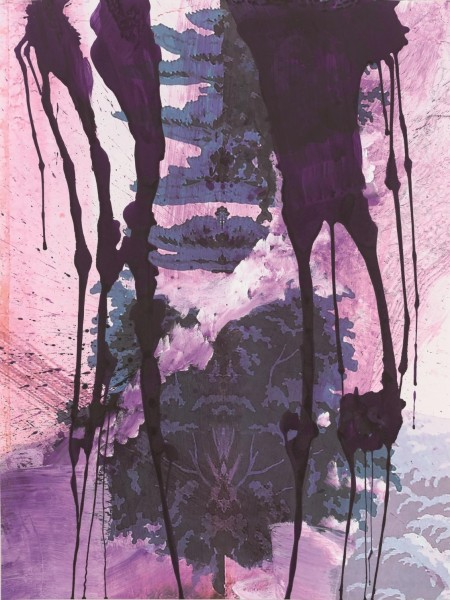 Julian Schnabel - Walt Whitman V (Frozen Lake) - 130x98cm