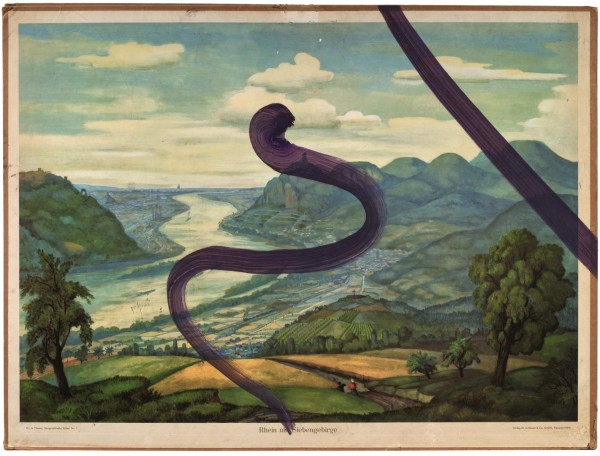 Julian Schnabel - Untitled (Rhein mit Siebengebirge)