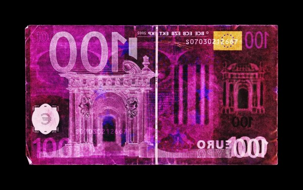 David LaChapelle - Negative Currency: Hundred Euro Used as Negative