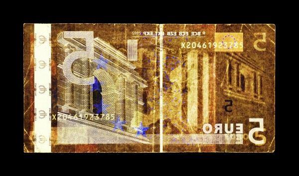 David LaChapelle - Negative Currency: Five Euro Used as Negative