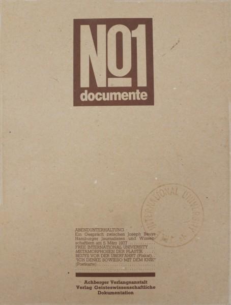 Joseph Beuys - Documente No 1. Abendunterhaltung mit Joseph Beuys