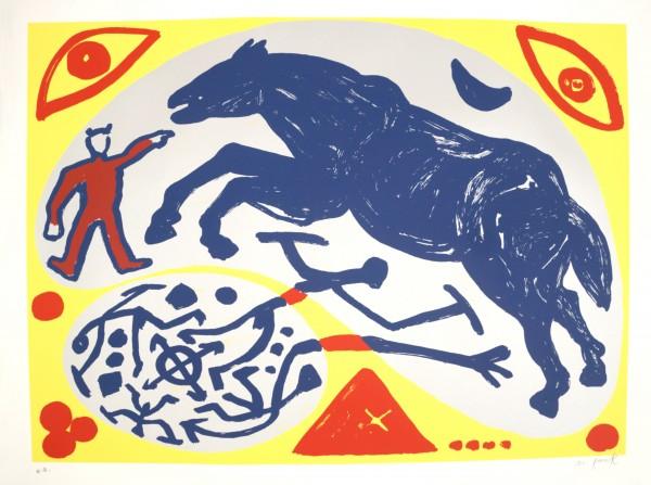 A.R. Penck - Das Pferd und der Mongole