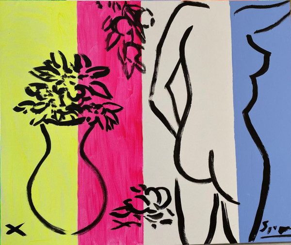 Stefan Szczesny - Nude and Still on a Striped Background