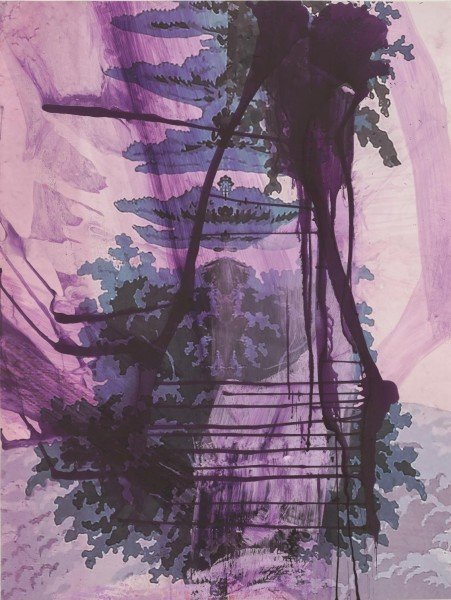 Julian Schnabel - Walt Whitman III (Waterfall) - 130x98cm