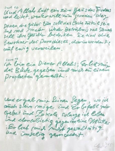 Günther Uecker - Friedensgebote, Blatt 8 der 9-teiligen Mappe