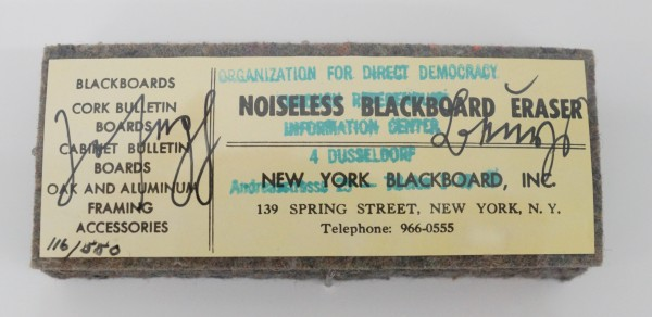 Joseph Beuys - Noiseless Blackboard Eraser
