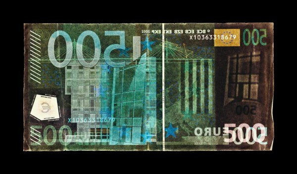 David LaChapelle - Negative Currency: Five Hundred Used as Negative