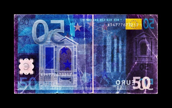 David LaChapelle - Negative Currency: Fifty Euro Used as Negative