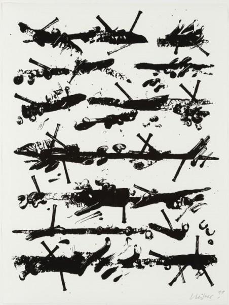 Günther Uecker - Friedensgebote, Blatt 3 der 9-teiligen Mappe