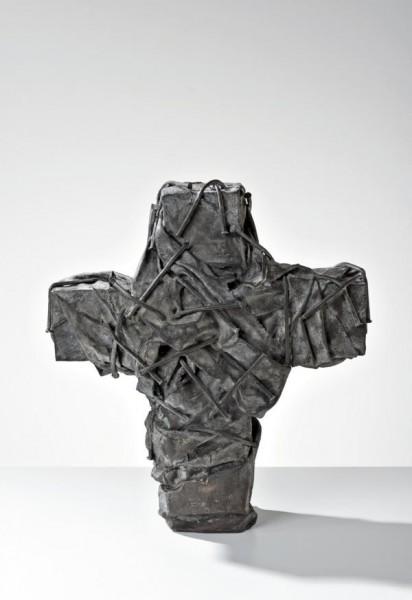 Günther Uecker - Nagelkreuz dunkel