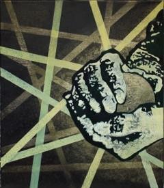 Markus Meyer - O.T: (Zwei Hände halten berührend einen Planeten)