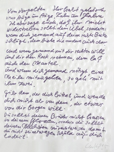 Günther Uecker - Friedensgebote, Blatt 7 der 9-teiligen Mappe