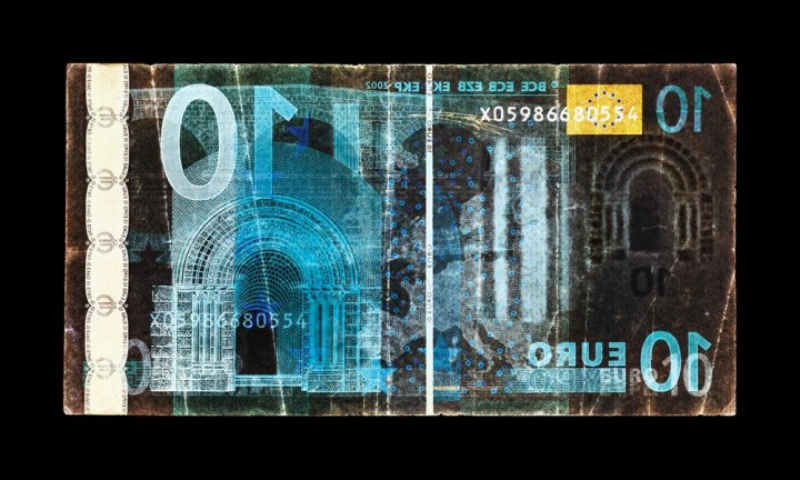 David LaChapelle - Negative Currency: Ten Euro Used as Negative